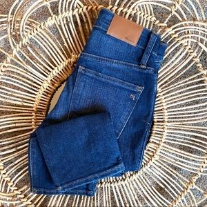 NWT Madewell High Rise Slim Straight Denim Jeans